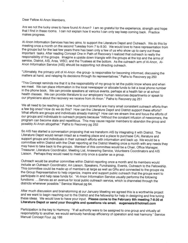 AIS Reorganization Letter 1-14-2018