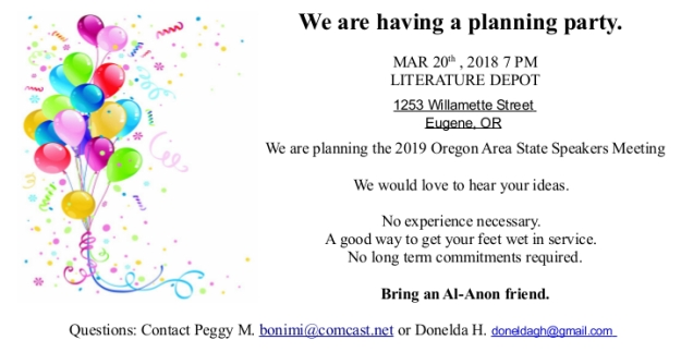 Flyer for March planning meeting